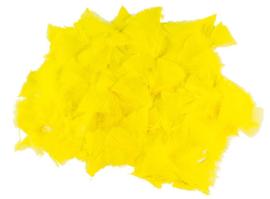 Veertjes geel  5-10 cm. 25 gram