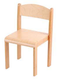 Stapelbare stoel Elise, plastic doppen, maat 1-4