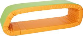 Foam kruip matras oranje/groen