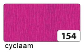 Crepepapier  250x50cm nr154 cyclaam