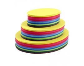 500 vel vouwkartons G1 20cm ovaal 10 kleuren assorti