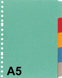 1xTabbladen Kangaro A5 17-gaats  5-delig assorti karton