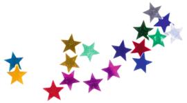 Glanzende confetti, kleine sterren