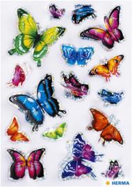 Etiket Herma vlinder 3D vleugeleffect