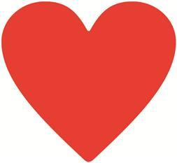 Jumbo - Plakfiguur hart 200st assorti