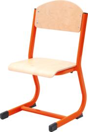 NIC stoel - rood beuken, maat 2-6