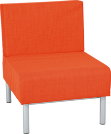 Brandvertragende 2 sofa, enkel - oranje