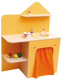 Gootsteen met planken - Oranje
