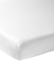 jersey hoeslaken 100 % katoen wit 60x120cm