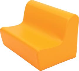 Lage zitbank 65cm zithoogte 20cm - Oranje