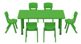 Dumi rechthoekige tafel - groen