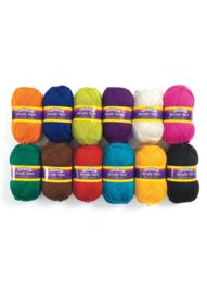 Wol yarn assorti set van 12 stuks  75 gram
