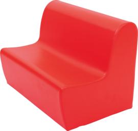 Bank hoog zithoogte 34 cm. - rood