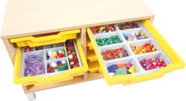 Verdeler voor ondiepe containers met 16 compartimenten
