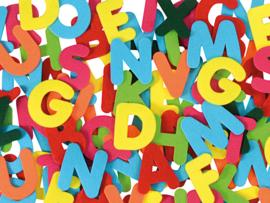 Megaset letters 8 cm.