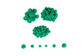 Pompons groen 20-25-30 mm 100 stuks