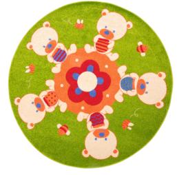 Rond tapijt met teddyberen