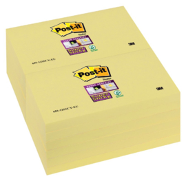 Memoblok 3M Post-it Super Sticky 76 x 127 mm. geel