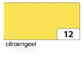 Engels karton  2 zijdig 50x70cm 300gr nr12 citroengeel