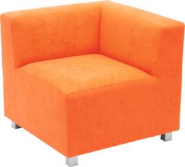 Flexi hoekbank, zithoogte 35 cm, oranje