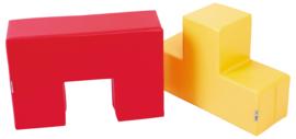 Foam set duoblokken 60x60x20cm - Rood/geel
