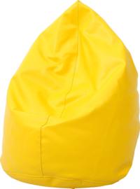 Mini zitzak poef - geel