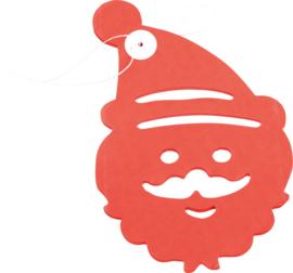 Papieren slinger - kerstman