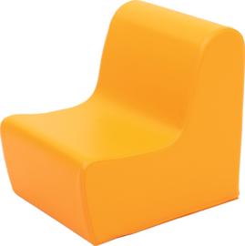 Lage bank zithoogte 20 cm. - oranje