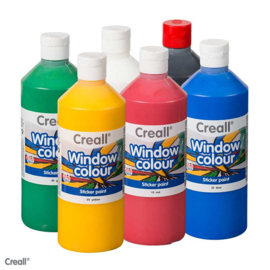 Creall window colour 6 x 500 ml. assorti