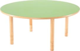 Ronde Flexi tafel 120cm groen in hoogte verstelbaar