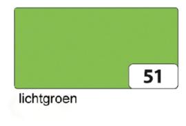 100 vel teken en handenarbeidpapier 50x70 cm  120gr licht groen
