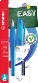 Vulpen STABILO Easybuddy rechtshandig donkerblauw/lichtblauw blister