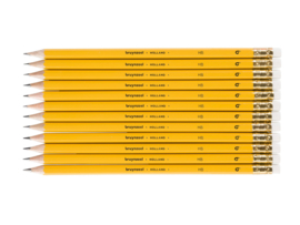 12 potloden Bruynzeel HB met gum