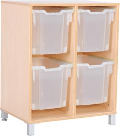 M-kast voor plastic containers met poten