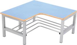 Flexi garderobe hoekbank 4, zithoogte 35 cm., lichtblauw