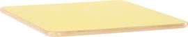Vierkant Flexi tafelblad 80x80cm geel los