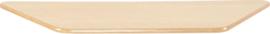 Trapezium Flexi tafelblad 150,5x80x80cm beuken los