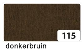 Crepepapier  250x50cm nr115 donkerbruin