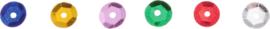 Pailletten rond 6 kleuren