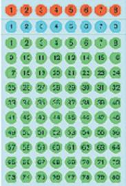 Etiket Herma 4129 8mm getallen 1-160 576stuks kleur assorti