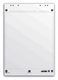 Flipoverpapier Oxford smart 65x98cm. 20 vel blanco 3 pak