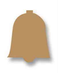 Plakfiguur - Klokje goud 200st