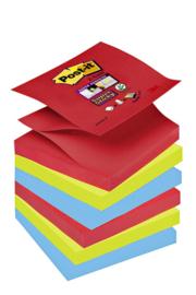Memoblok 3M Post-it Z-Note S330-6JP 76x76mm Super Sticky Bora