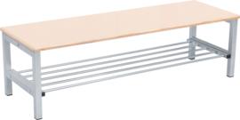 Flexi garderobe bank 4, hoog 26 cm - esdoorn