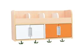 Quadro garderobe plank 4, esdoorn