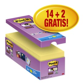 Memoblok 3M Post-it  Super Sticky 76x76 mm. geel