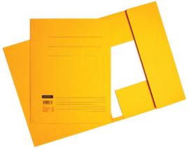 50x Aktemappen 3 kleppen A4 320gr geel