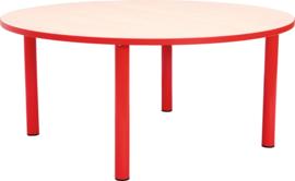 Ronde Quint-tafel 90 cm met rode rand 40-58cm