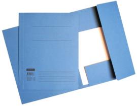 50x Aktemappen 3 kleppen A4 320gr blauw