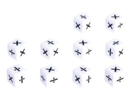 Dobbelstenen delen/vermenigvuldigen